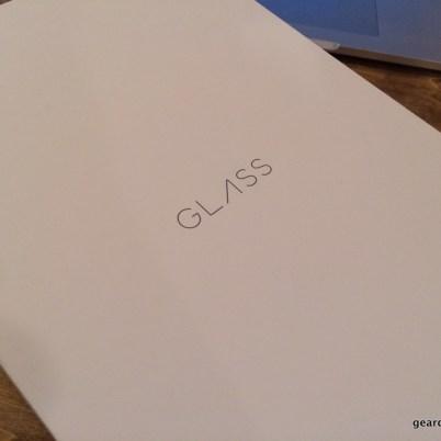 The Google Glass box