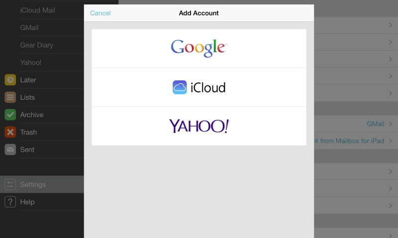 Mailbox Adds iCloud and Yahoo Maile