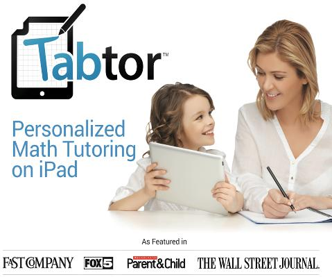 Tabtor Math Personal Math Tutoring for iPad is at CES