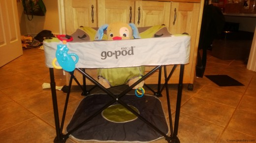 Kidco GoPod Review - a Portable Hangout for Infants that Grows with Your Child