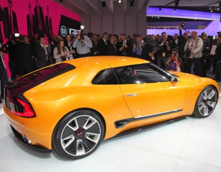 Kia wowed the crowd with its GT4 Stinger concept
