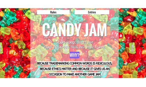 "Candy Jam Protests Candy Crush Saga Developer's Trademarking of the Common Word ""Candy"""