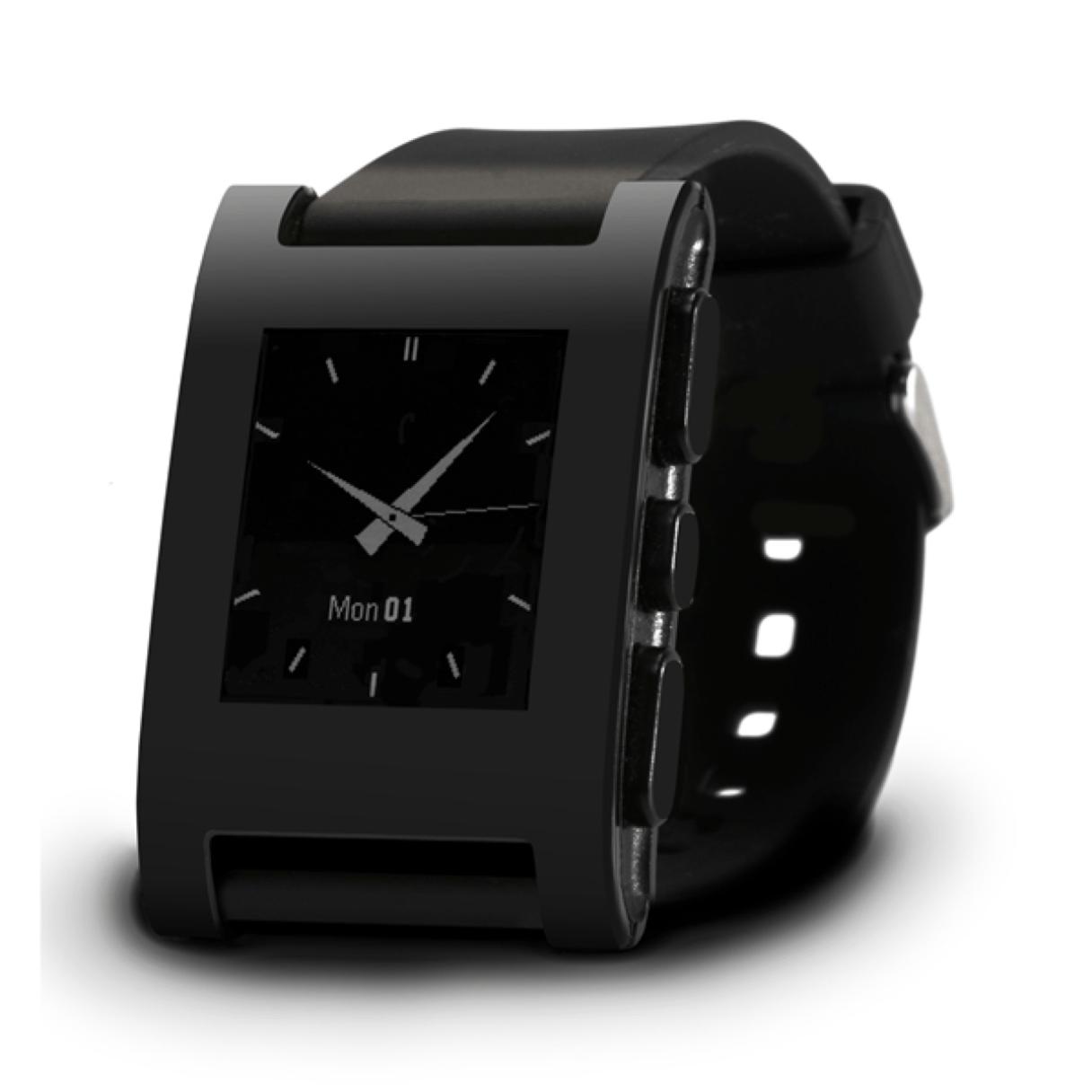 Pebble Watch - Color Series Matte Black 2