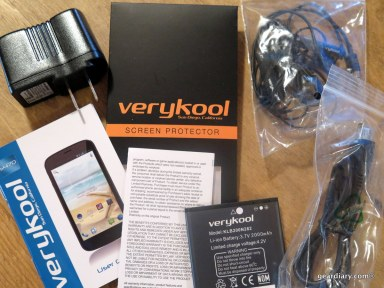 GearDiary Dual SIM VeryKool s470 Black Pearl Android Phone - Great for Travel