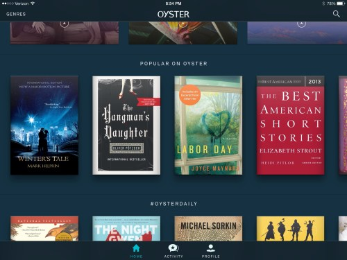 Oyster Books Subscription eBook Service: Great Idea, Awful Execution