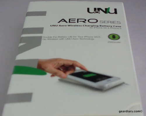 GearDiary UNU AERO Series Wireless Charging Battery Case for iPhone 5S