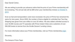 Amazon Prime Goes to $99