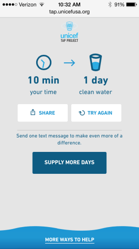 UNICEF Tap Project Pledges Drinking Water If You Can Put Your Phone Down