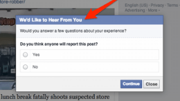 Facebook Asks Whether You Think Your Post Will Get Reported or Not. What?!