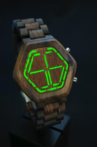 Kisai night vision wood led watch from tokyoflash japan 03