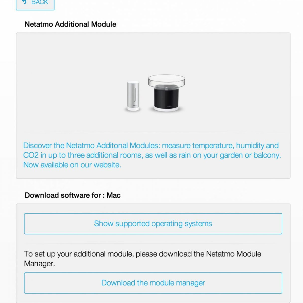 Download the rain gauge connection software for your operating system