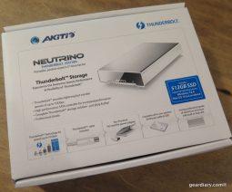 AKiTiO Neutrino Thunderbolt Edition 512GB SSD Portable Drive Review  AKiTiO Neutrino Thunderbolt Edition 512GB SSD Portable Drive Review