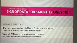 GearDiary T-Mobile 5 GB for 5 Months for $10 on New iPad Air 2 with Apple SIM