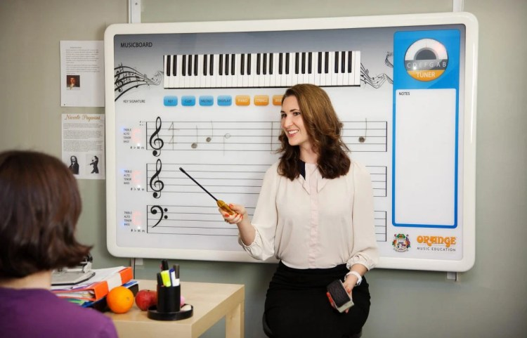 Orange Announces the MusicBoard Interactive Whiteboard for Music Education!