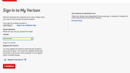 Verizon Account Sign-In #Fail