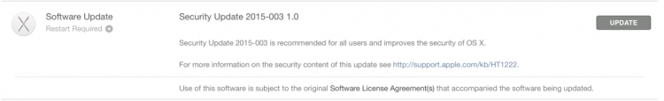 Apple Pushes Yosemite Security Updates for Macs