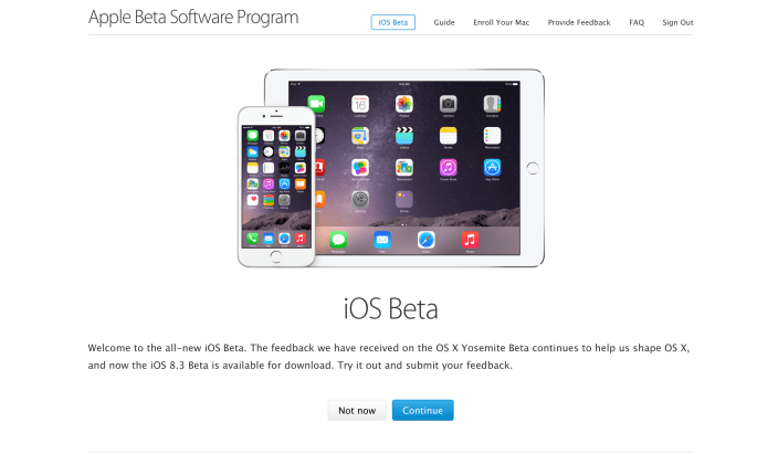 iOS 8.3 Beta Is Open to the Public! [Download]