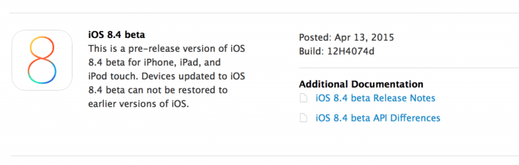 GearDiary Apple's Released the First Beta of iOS 8.4
