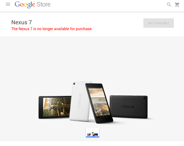 Google's Nexus 7 Discontinued