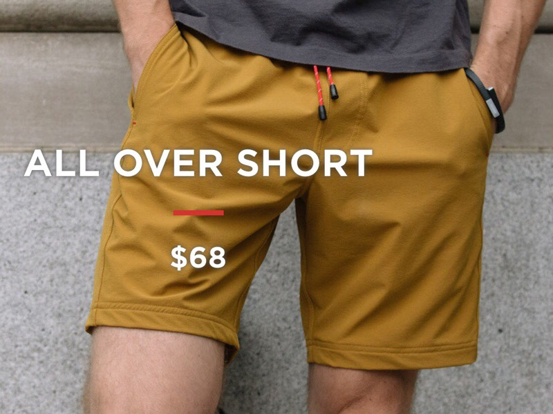 OLIVERS All Over Shorts Are Gym Shorts Re-envisioned