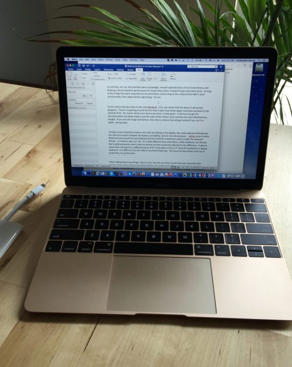 How I Ended up Buying the New MacBook 12-inch: A Personal Review