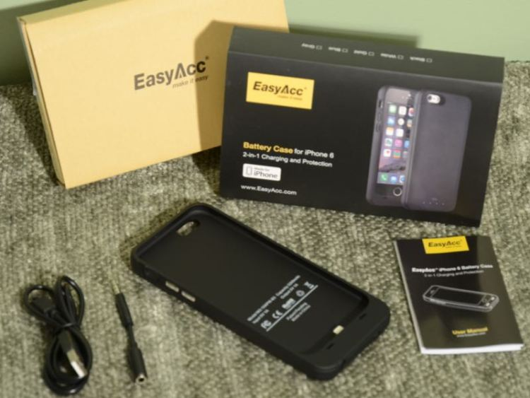 EasyAcc 3200mAh Extended Battery Case for iPhone 6 Provides Double Duty