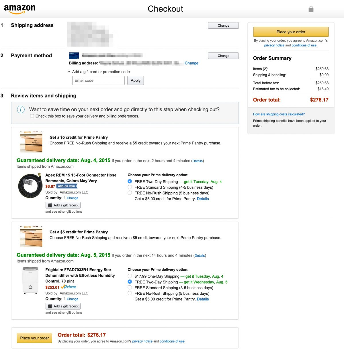 Amazon Offering $5 Prime Pantry Credit for No-Rush Shipping!