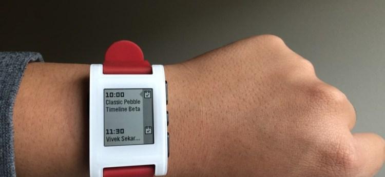 GearDiary Original Pebble and Pebble Steel Receive the Timeline Update!