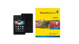 Amazon Deal: Rosetta Stone 1-5 (Download) Plus Kindle Fire HD 6  - $ 198.99