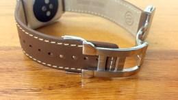 GearDiary New Monowear Leather Deployment Band For Apple Watch