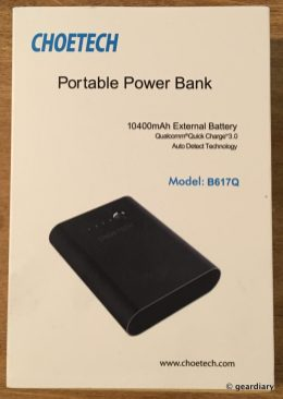 1-Choetech 10,400mAh Portable Power Bank