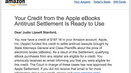 Apple eBook Antitrust Settlement Credits Begin to Appear
