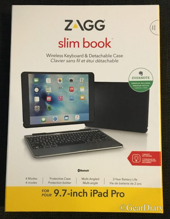 "GearDiary ZAGG Slim Book Ultra-Slim Tablet Keyboard and Detachable Case Is a Must-Have for Your Apple 9.7"" iPad Pro"