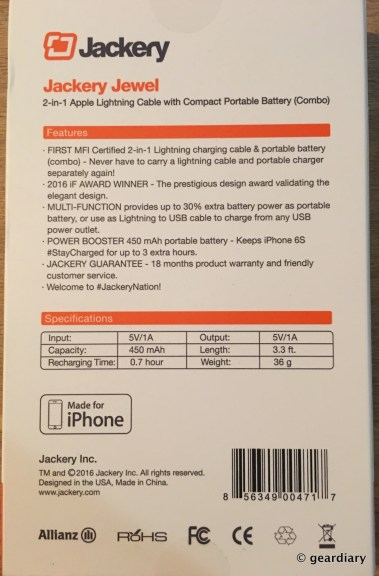 GearDiary Jackery Jewel Lightning Power Cable Review: Sync, Charge, and Power!