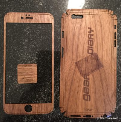 GearDiary Toast Offers Gorgeous Engraved Wood Covers for Your Mobile Devices