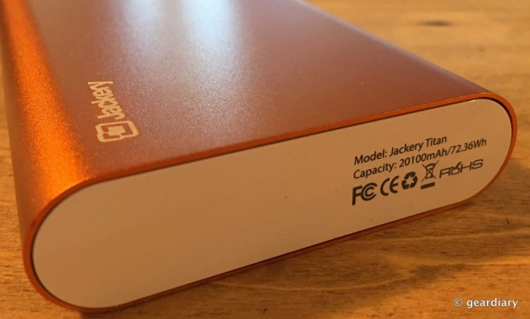 The Jackery Titan 20,100mAh Portable Battery Review