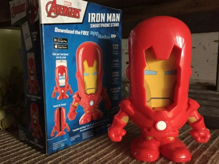GearDiary App Dudes Smartphone Stand: Now Super Heroes Can Wake the Kids