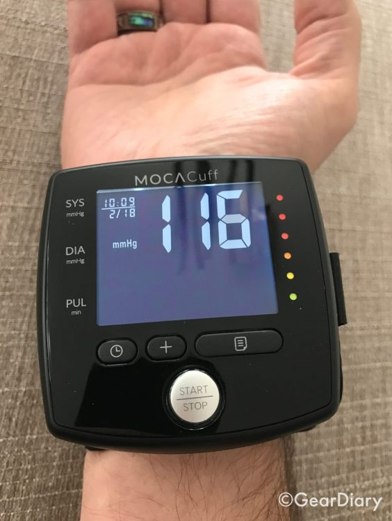 GearDiary MOCAcuff Wrist Monitor Makes Blood Pressure Checks Simple