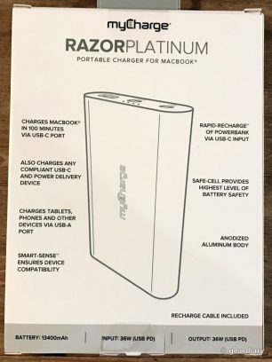 MyCharge RazorPlatinum Portable Charger for MacBook Review  MyCharge RazorPlatinum Portable Charger for MacBook Review  MyCharge RazorPlatinum Portable Charger for MacBook Review