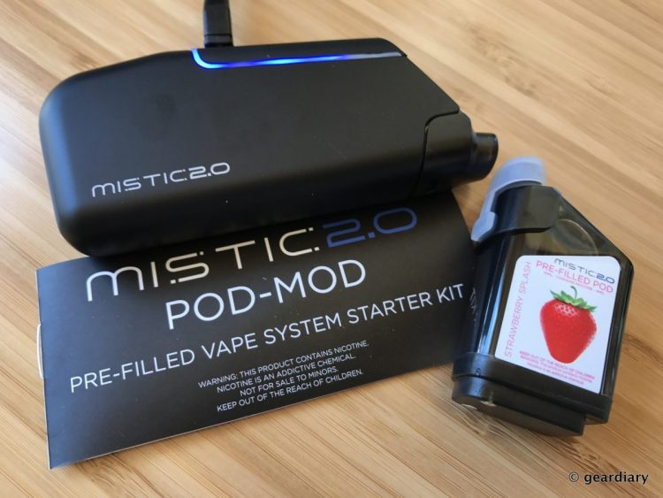 Mistic 2.0 POD-MOD Pre-filled Vape System Starter Kit Review