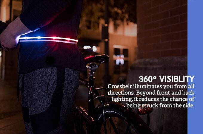 Runners and Bikers Defy Darkness with the LumaGlo Crossbelt, Now on Kickstarter