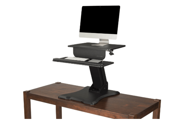 UPLIFT Adapt Height Adjustable Standing Desk Converter Takes You