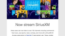 Amazon Echo Adds SiriusXM Streaming Skill