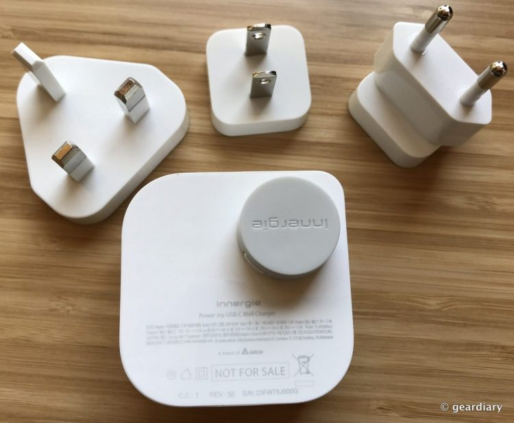 Innergie PowerJoy 30C USB-C Wall Charger with Travel Plugs Review