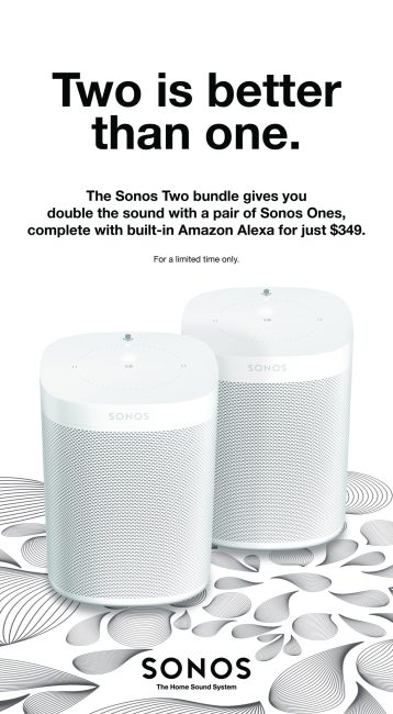 GearDiary SONOS' New Deal Proves Twice As Nice As Apple's HomePod