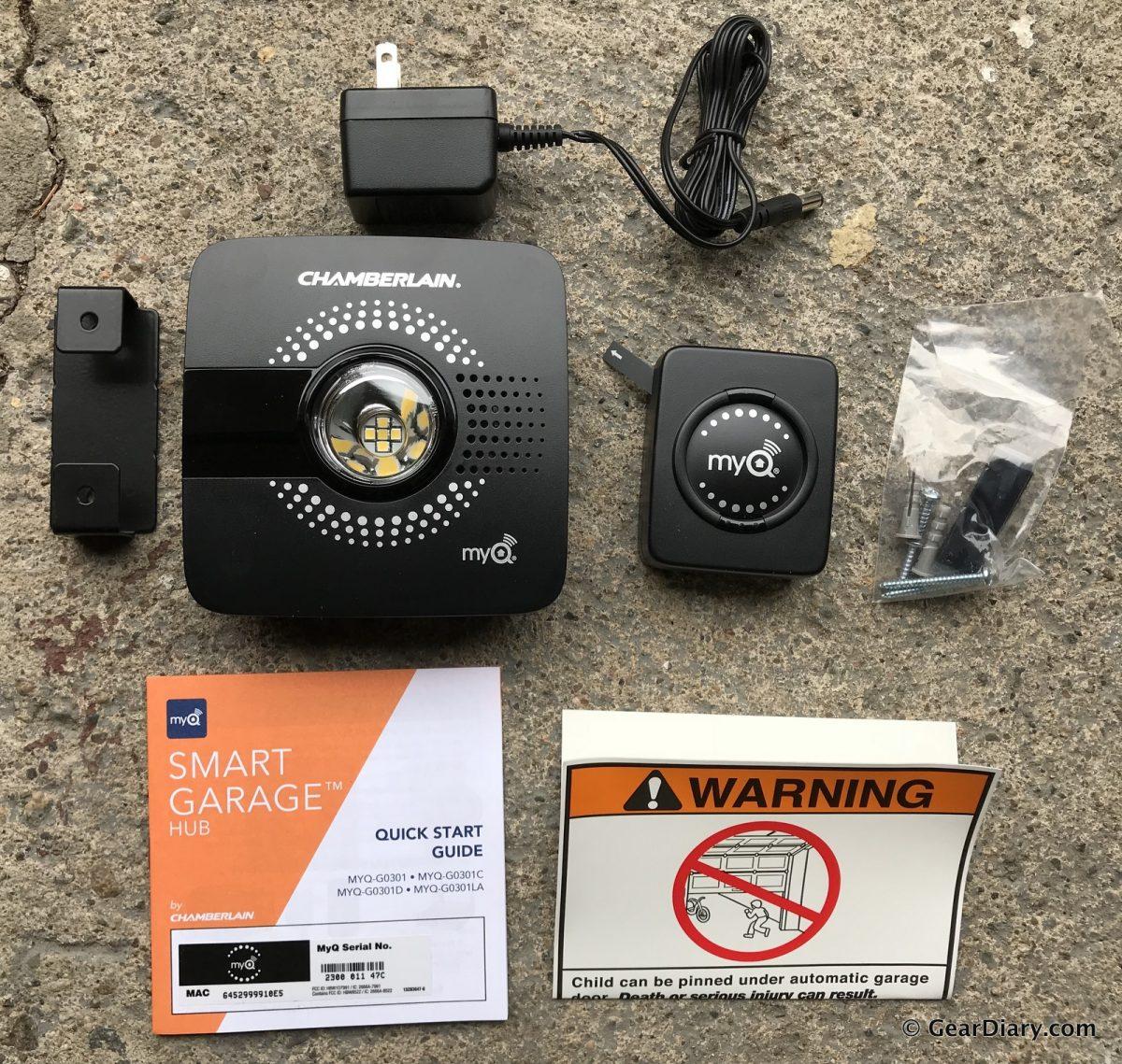 GearDiary Chamberlainu0027s MyQ Smart Garage Hub Adds Key Features To Your Dumb  Old Garage Door Opener