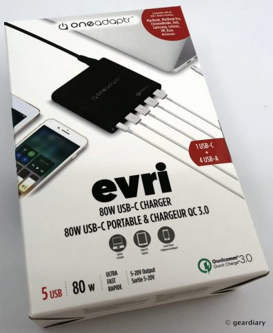 GearDiary Oneadaptr EVRI 80W USB-C Charging Station Review