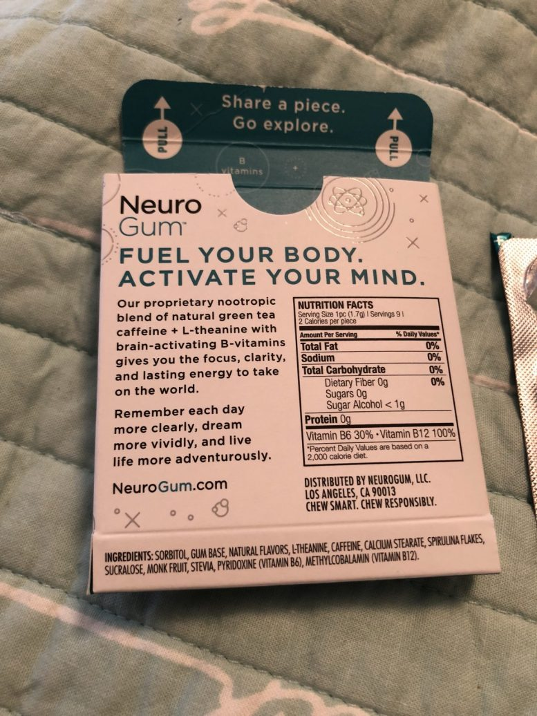 GearDiary Neuro Gum Makes Your Mouth and Your Brain Buzz with Energy!
