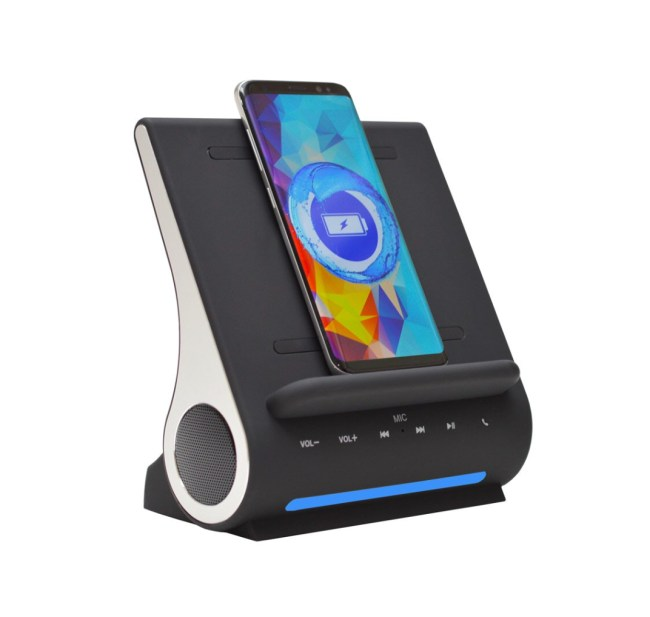 Azpen DockAll D108 Sound Hub Wirelessly Charges Your Phone and Much More