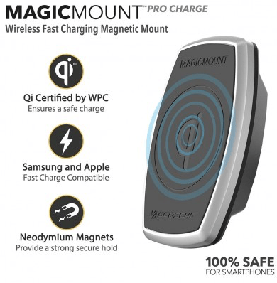 Scosche MagicMount Pro Charge Is Qi-riffic